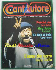 Cantautore 1 RIVISTA SPARTITO LUCIO DALLA BATTISTI BEATLES VINCENT no cd lp mc