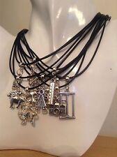Handmade Tibetan Charm Leather Cord Necklace **UK SELLER**