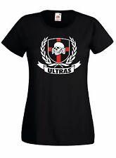 T-shirt Maglietta donna J1363 Ultras Milan Skull Fossa dei Leoni Curva Sud