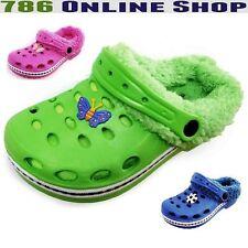 Kinder Clogs Hausschuhe Badeschuhe (20A) Pantoffel Pantoletten Schuhe Neu