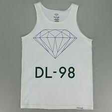 Diamond Geometric Tank Tee Vest - White - S M L