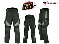 Mens Waterproof Motorbike Motorcycle Trousers Pant Gears CE Armored Lined - Grey