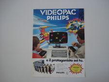 advertising Pubblicità 1983 VIDEOPAC PHILIPS G 7000