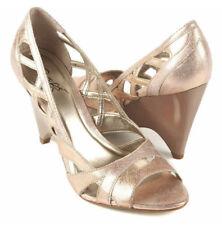 New CARLOS by CARLOS SANTANA Leather Women Wedge Heel Pointy Toe Pump Shoe