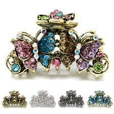 Elegant metal hair claw jaw rhinestones crystal butterfly clip hair accessories