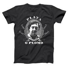 Plata O Plomo Pablo Escobar Narcos Mafia Series Cartel Black Men's T-Shirt