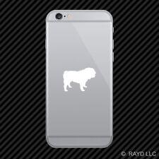 (2x) Bulldog Cell Phone Sticker Mobile British English Dog many colors
