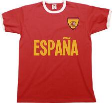 Para Hombres España España Camiseta Fútbol Copa del Mundo 2018 Rusia Bandera Retro de nombre de país