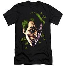 Batman Arkham Origins Canvas T-Shirt Joker Grin Ha Ha Black Tee