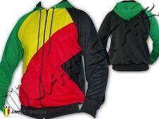 Rasta Reggae Jacket Hoodie Rastafari Jah Star Jamaica Africa Style Polyester