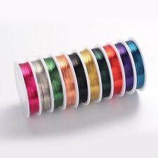 0,2-1mm Kupferdraht Lackdraht Copper Wire Basteldraht Farbwahl 0,08-1€/m