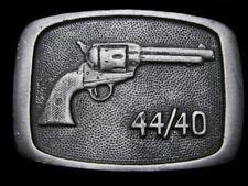MI17158 VINTAGE 1978 **44/40 REVOLVER** GUN BELT BUCKLE