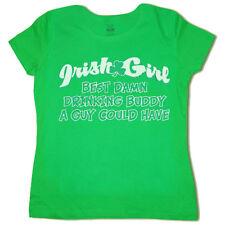 Ladies tee shirt Irish Girl / Drinking funny green st patricks pattys day tshirt