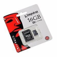 MICRO SD  KINGSTON CANVAS 16 GB CLASSE 10 80MB/S CON ADATTATORE ORIGINALI H2TEST