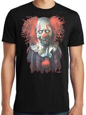 PubliciTeeZ Big and Tall Licensed Liquid Blue Zombie Clown T-Shirt Big Sizes