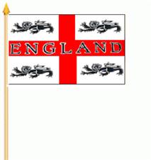 England St. George mit Löwen Stockflagge 30x45 cm