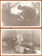 ORIGINAL PHOTO Lot x 2 WWII Camp Ripley Little Falls MN