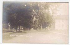 Maple Street Scene Westfield Pennsylvania Rppc 1907c postcard