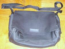 KENNETH COLE REACTION Men's Brief Case MESSENGER BAG Black Soft Laptop Case