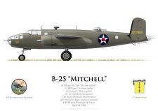 Print B-25 Mitchell, W. Farrow, Raid Doolittle sur Tokyo (par G. Marie)
