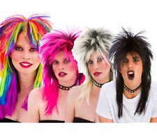 de los ochenta Punk Rockero Peluca Hombre Mujer Años 80 Disfraz Punks Peluca