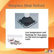 Roof Flashing for Stove Woodburning Chimney Flue
