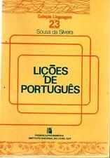 Licoes De Portugues Sousa Da Silveira Linguistics Grammar 1983 Portuguese Langua