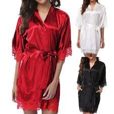 Sexy Lingerie Ladies Lace Robe Dress Babydoll Nightdress Nightgown Sleepwear