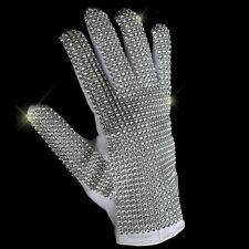 MJ Michael Jackson Classic Silver Handmade Billie Jean Shining Glove Imitate