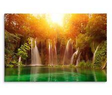 Leinwandbild Nationalpark Plitvicer Seen ( Plitwitzer Seen ) Wasserfall im Wald