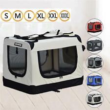 Hundetransportbox Hundebox Hundetasche Katzenbox Autotransportbox Faltbar S-XXXL