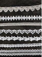 """Your Choice Vintage Venise Lace Cotton Trim Scrapbook Craft Quilt 1-1/4"""" By Yard"""