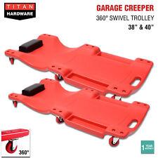 Garage Creeper Mechanic Workshop Trolley 360 Swivel Wheels Castor Car Roller Red