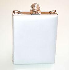 POCHETTE donna ARGENTO borsa cristallo borsello clutch cerimonia elegante  E120