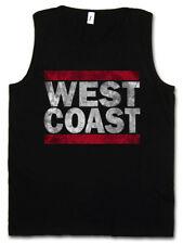 West Coast Uomo Tank Top Run Dmc Fun USA United States New City nastro East Side
