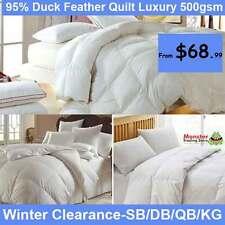 SB/DB/QB/KB Duck Feather/Down Luxury Quilt/Doona/Blanket/Duvet-All Season 500gsm