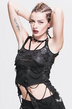 Devil Fashion Punk Rock Sexy T-Shirts Short Tops Women Steampunk Slim Gothic Tee