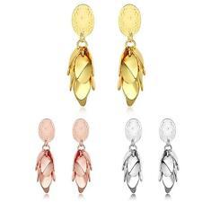 "Rose Gold Plated  Earrings Drop Dangle Push Back .52"" L264"