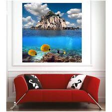 Affiche poster poissons tropicaux île 61471849 Art déco Stickers