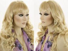 Feminine 23 in Long Wavy Off Center Right Skin Part Wigs Soft Long 5.5 In Bangs