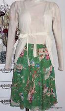 KING LOUIE Falda verde nailon Kjole ROK ASIA plisado falda PIPPA Tierra Green