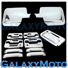 04-08 Ford F150 Chrome Mirror+4 Door Handle+keypad+keyhole+Tailgate Cover kit