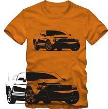 T-Shirt  Ford  Mustang Tuning T-Shirt   Retro Style S/W Grafik DTG  Ford T-Shirt
