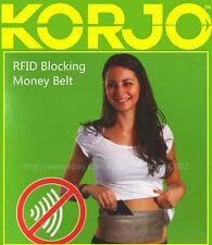 Korjo Travel RFID Blocking Money Belt Waist Bag -Safe, Comfy & Easy to Wear MBRF