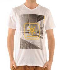 Bench City Brightness Tee T-Shirt Shirt Weiß White gelb BMGA3469 C0484 WH001
