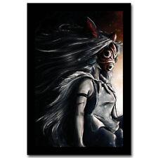 Princess Mononoke Miyazaki Hayao Anime Cartoon Silk Poster 12x18 24x36 inch 019