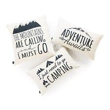 Hofdeco Throw Lumbar Pillow Cover HEAVY WEIGHT Linen Spirit Quotes Modern Black