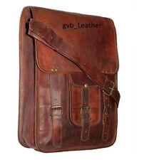 """15"""" Men's Leather satchel Vintage Leather Laptop's messenger Shoulder Bag i Pad"""