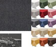 Tischdecke Decke Fleckschutz Lotus Effekt Garten Leinenoptik abwaschbar