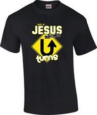TALL Christian Jesus Allows U-Turns Religious T-Shirt